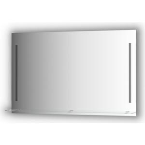 Зеркало с полкой Evoform Ledline-S с 2-мя светильниками 11 W 120x75 см (BY 2167)