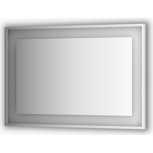 Зеркало в багетной раме поворотное Evoform Ledside со светильником 27,5 W 110x75 см (BY 2206)