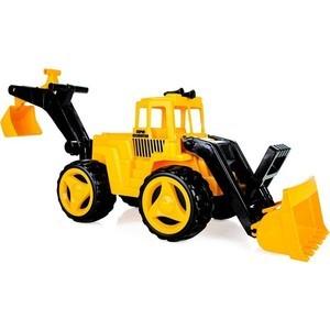 Бульдозер Pilsan Super Dozer с ковшом цвет желтый (06-206) педальная машина pilsan tractor цвет красный 07 314