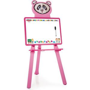 цена Доска для рисования Pilsan Panda цвет розовый (03-418) онлайн в 2017 году