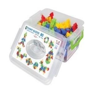 Конструктор Pilsan Funny Blocks 80 деталей (03-259) детский горшочек кресло pilsan bobo цвет голубой 07 505