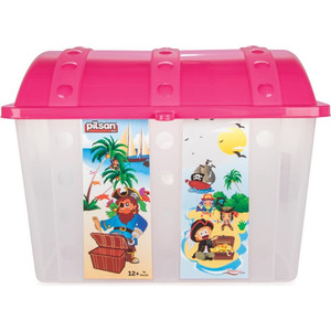 Контейнер для игрушек Pilsan Сундук розовый (06-189) детский горшочек кресло pilsan bobo цвет голубой 07 505