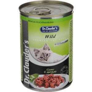 Консервы Dr.Clauders Game in Delicate Sauce с дичью кусочки в соусе для кошек 415г