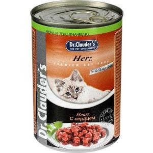 Консервы Dr.Clauders Heart in Delicate Sauce с сердцем кусочки в соусе для кошек 415г