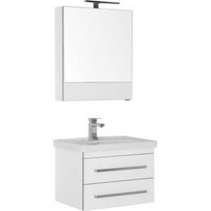 Мебель для ванной Aquanet Сиена 60 с ящиками, белый