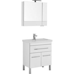Мебель для ванной Aquanet Сиена 70 с дверцами и ящиком, белый