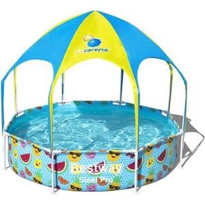 цена на Каркасный бассейн Bestway 56432 с навесом 244х51 см