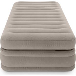 цена на Надувная кровать Intex 64444 Prime Comfort Elevated Airbed 99х191х51см, встроенный насос 220V