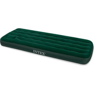 цена на Надувной матрас Intex 66950 Downy Bed, 76х191х22см, со встроенным ножным насосом