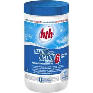 Двухслойная таблетка HTH K801792H1 быстрый и медленный хлор, 1 кг многофункциональные таблетки hth maxitab action 5 1 2kg c800702h1