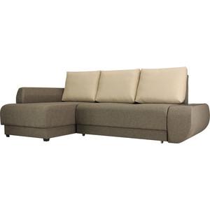 Диван угловой SettySet Нью Йорк Евро Левый, коричневый диван угловой settyset нью йорк левый коричневый