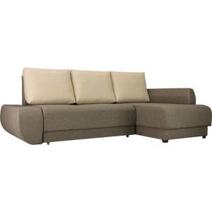 Диван угловой SettySet Нью Йорк Евро Правый, коричневый диван угловой settyset нью йорк левый коричневый