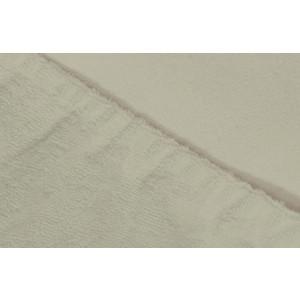 Простыня Ecotex махровая на резинке 90х200х20 см (ПРМ09 молочный)
