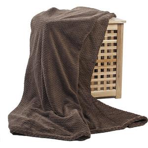 Плед Ecotex Elegance 200х220 коричневый (4607132576289) цены
