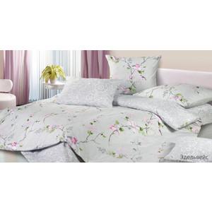 Комплект постельного белья Ecotex 1,5 сп, сатин, Эдельвейс (4680017867993) комплект постельного белья ecotex 1 5 сп сатин хэмптон кг1хэмптон