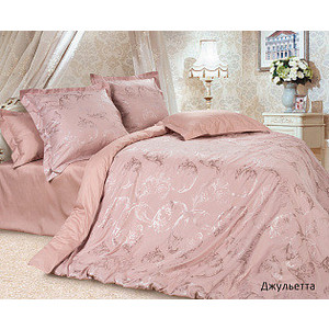 Комплект постельного белья Ecotex Семейный, сатин-жаккард, Джульетта (4670016951304) комплект постельного белья karna семейный сатин жаккард belle 5069