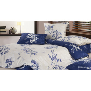 Комплект постельного белья Ecotex 1,5 сп, сатин, Лаванда (4680017863001) комплект постельного белья cloud factory 3 пр сатин simple love blue