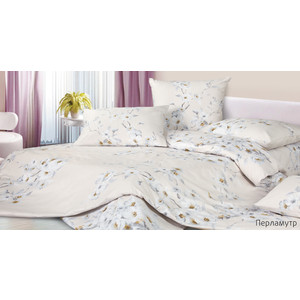 Комплект постельного белья Ecotex Евро, сатин, Перламутр (4680017869850)