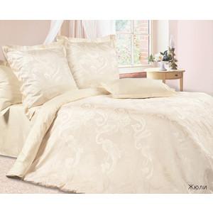 цена Комплект постельного белья Ecotex Евро, сатин-жаккард, Жюли (4670016950413) онлайн в 2017 году