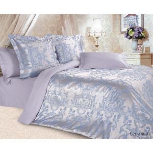 цена Комплект постельного белья Ecotex Евро, сатин-жаккард, Севилья (4680017869690) онлайн в 2017 году