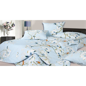 Комплект постельного белья Ecotex 1,5 сп, сатин, Соло (4680017869874) комплект постельного белья ecotex 1 5 сп сатин хэмптон кг1хэмптон