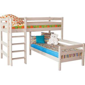 Детская угловая кровать Мебельград Соня с прямой лестницей вариант 7