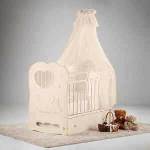 Кроватка Островок уюта Слоненок слоновая кость маятник поперечный с ящиком