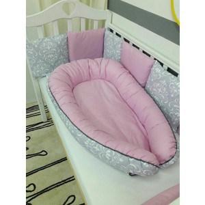 Гнёздышко для малыша By Twinz Babynest Дамаск Малина