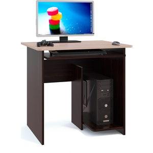 Стол компьютерный СОКОЛ КСТ-21.1 венге/беленый дуб стол компьютерный гамма кст 1200 дуб сонома