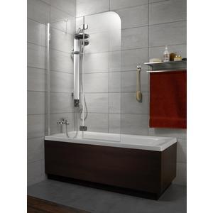 Шторка на ванну Radaway Torrenta PND 100/L прозрачное, хром, левая (201202-101NL) шторка на ванну radaway torrenta pnd 121 стекло графитовое l