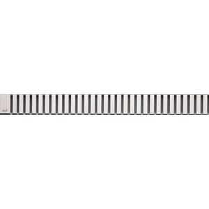 цена на Решетка AlcaPlast Line нержавеющая сталь матовая (LINE-300M)