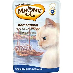 Паучи Мнямс Катаплана по-португальски с куриным филе и форелью для кошек 85г