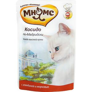 Паучи Мнямс Косидо по-Мадридски с говядиной и морковью для кошек 85г фото