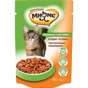 Паучи Мнямс with Rabbit in Gravy кусочки с кроликом соусе чувствительное пищеварение для кошек 100г