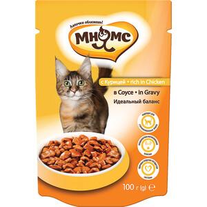 Паучи Мнямс Rich in Chicken Gravy кусочки с курицей в соусе идеальный баланс для кошек 100г