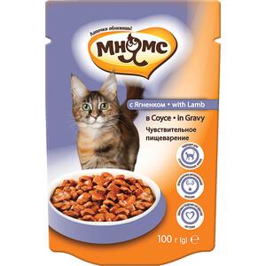 Паучи Мнямс with Lamb in Gravy кусочки с ягненком соусе чувствительное пищеварение для кошек 100г