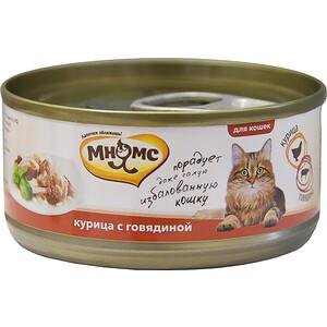 Консервы Мнямс Курица с говядиной в нежном желе для кошек 70г