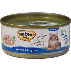 Консервы Мнямс Тунец с анчоусами в нежном желе для кошек 70г