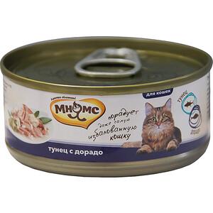 Консервы Мнямс Тунец с дорадо в нежном желе для кошек 70г