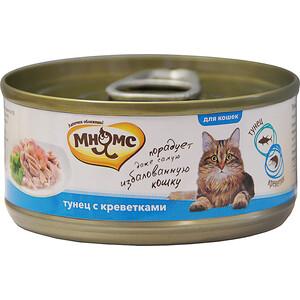 Консервы Мнямс Тунец с креветками в нежном желе для кошек 70г
