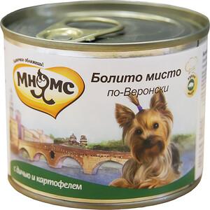 Консервы Мнямс Болито мисто по-Веронски с дичью и картофелем для собак 200г