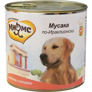 Консервы Мнямс Мусака по-Ираклионски с ягненком и овощами для собак 600г