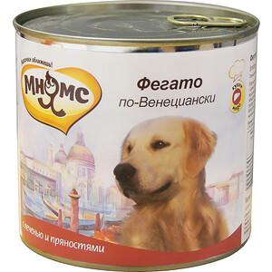 Консервы Мнямс Фегато по-Венециански с телячей печеню и пряностями для собак 600г