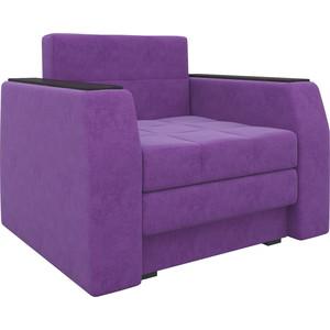Кресло-кровать Мебелико Атлант микровельвет фиолетовый