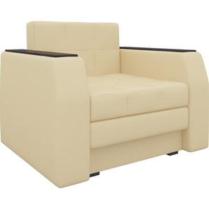 Кресло-кровать АртМебель Атлант эко-кожа бежевый кровать артмебель сицилия эко кожа бежевый