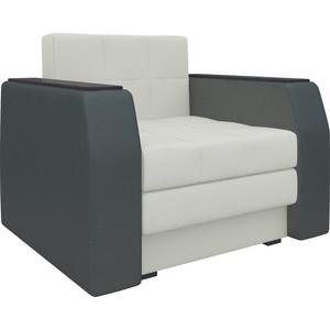 Кресло-кровать АртМебель Атлант эко-кожа бело-черный кресло кровать артмебель комфорт эко кожа черный