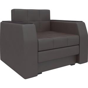 Кресло-кровать АртМебель Атлант эко-кожа коричневый кресло кровать артмебель комфорт эко кожа черный