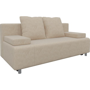 Диван-еврокнижка Мебелико Чарли микровельвет бежевый диван еврокнижка мебелико европа микровельвет зелено бежевый