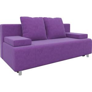 Диван-еврокнижка Мебелико Чарли микровельвет фиолетовый