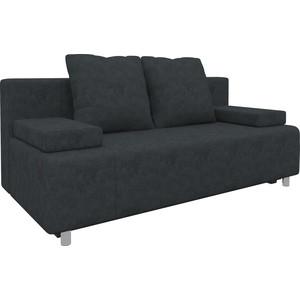 Диван-еврокнижка Мебелико Чарли микровельвет черный диван еврокнижка мебелико европа микровельвет зелено бежевый